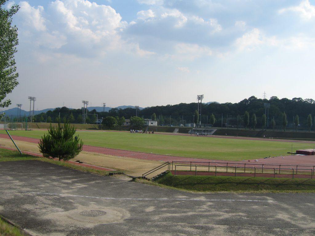 京田辺の陸上競技場