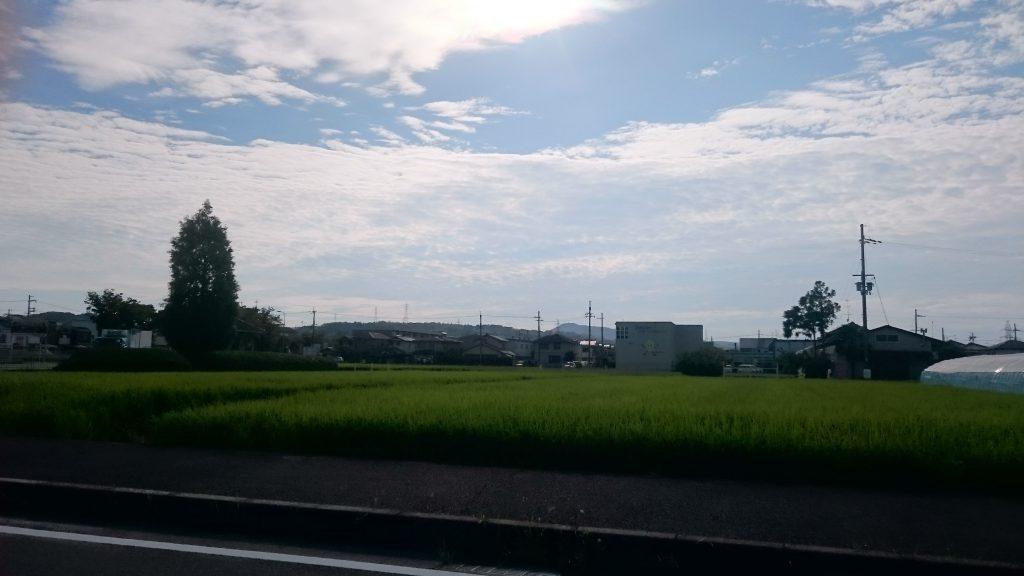 田んぼが多い京田辺